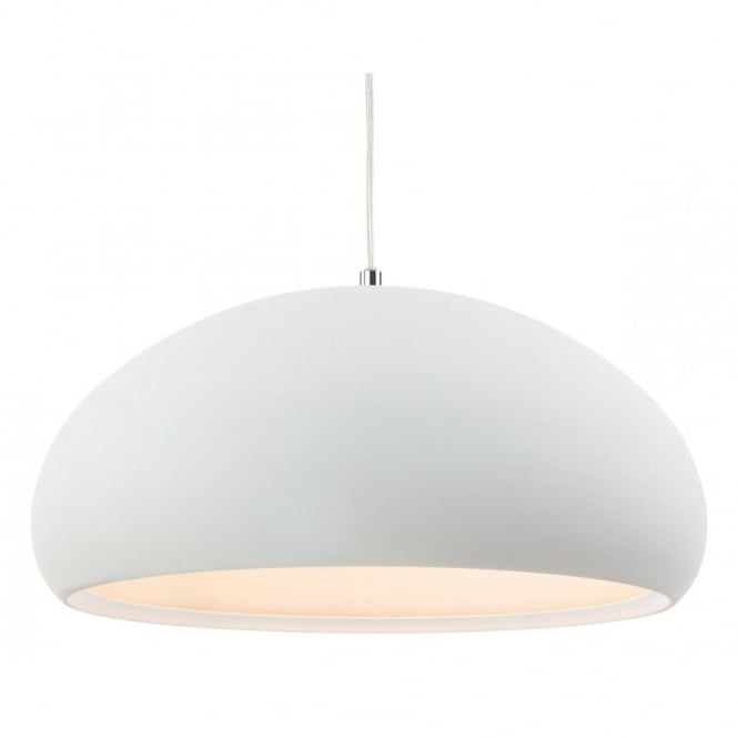 The Lighting Collection COSTA rough sand ceiling pendant in white finish