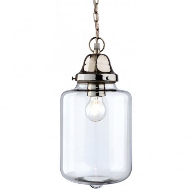 The Lighting Collection CRAFT polished chrome and clear glass ceiling pendant