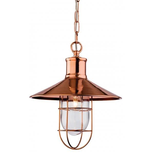 Copper Ceiling Pendant In Retro Fisherman Pendant Design