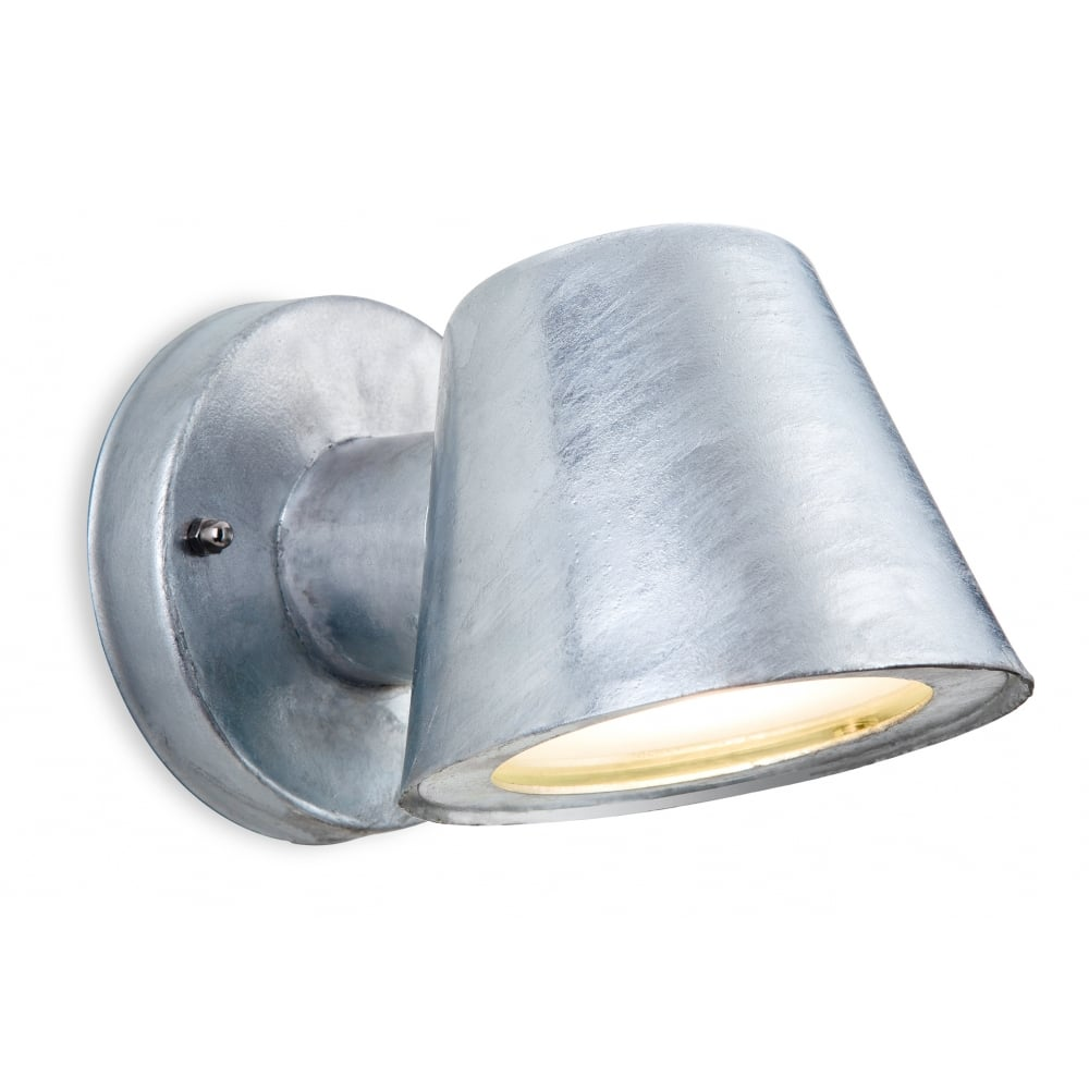 galvanized lighting. ELAN Modern LED Outdoor Wall Light In Galvanized Finish Lighting