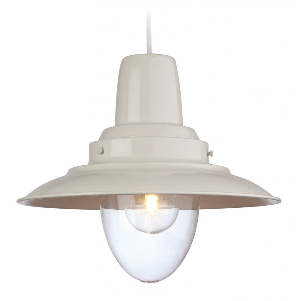 Rustic Lighting Company: Retro Style Ceiling Pendant In A Cream Finish