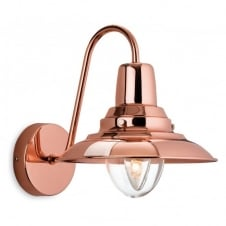 FISHERMAN single retro wall light in copper finish