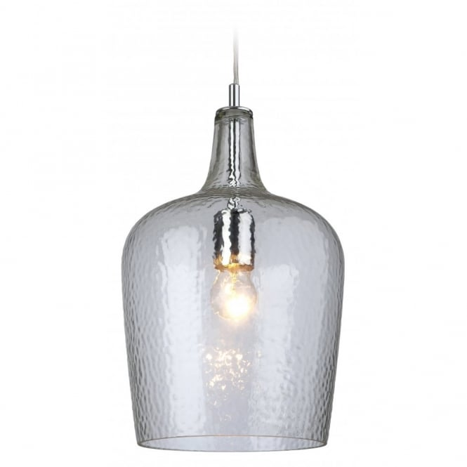 The Lighting Collection GLASS beveled clear bottle pendant light