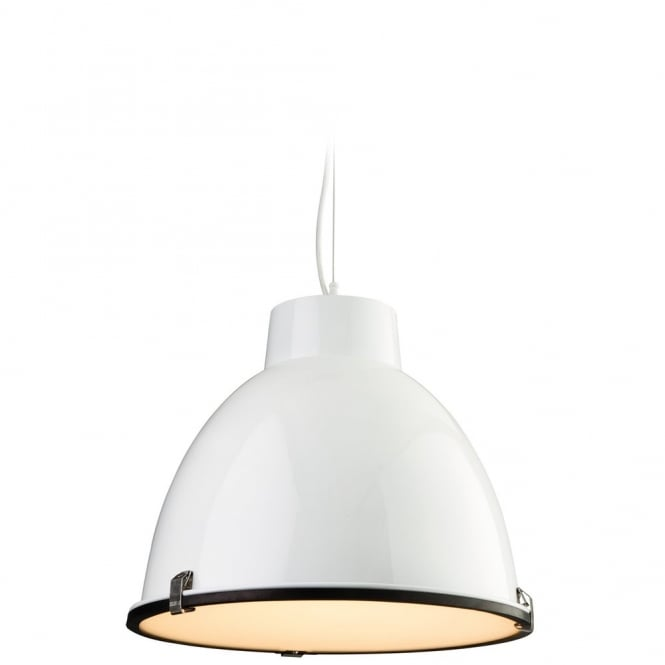 The Lighting Collection MANHATTAN white retro ceiling pendant
