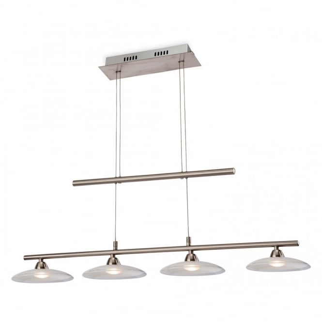 The Lighting Collection NASSAU LED rise and fall ceiling bar pendant