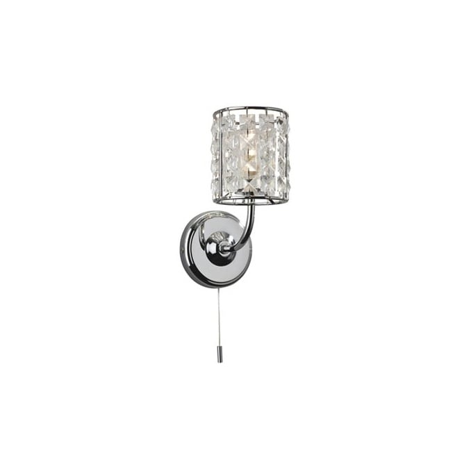 The Lighting Collection PEARL chrome and crystal bathroom wall light