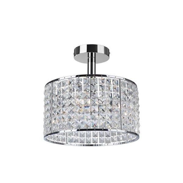 pearl chrome and crystal droplet round bathroom ceiling light astro lighting evros light crystal bathroom