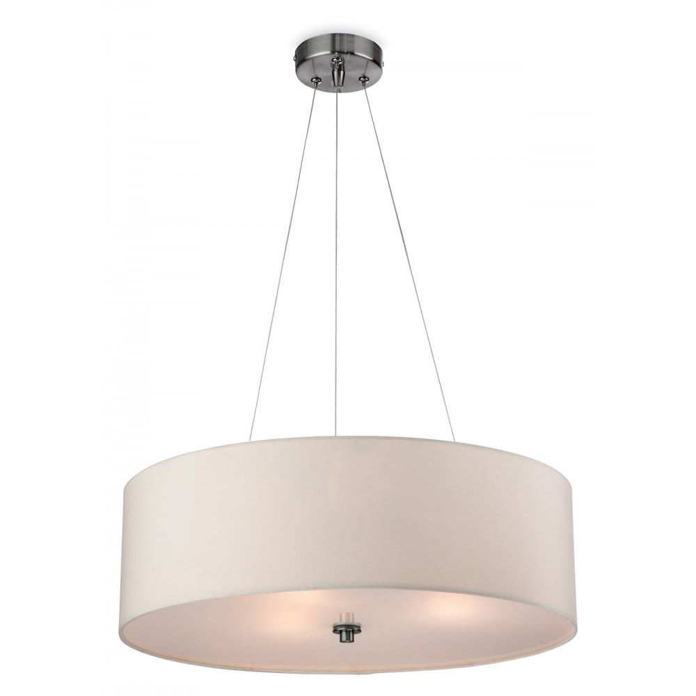 Large Contemporary Ceiling Lights : Contemporary cream ceiling pendant with glass diffuser