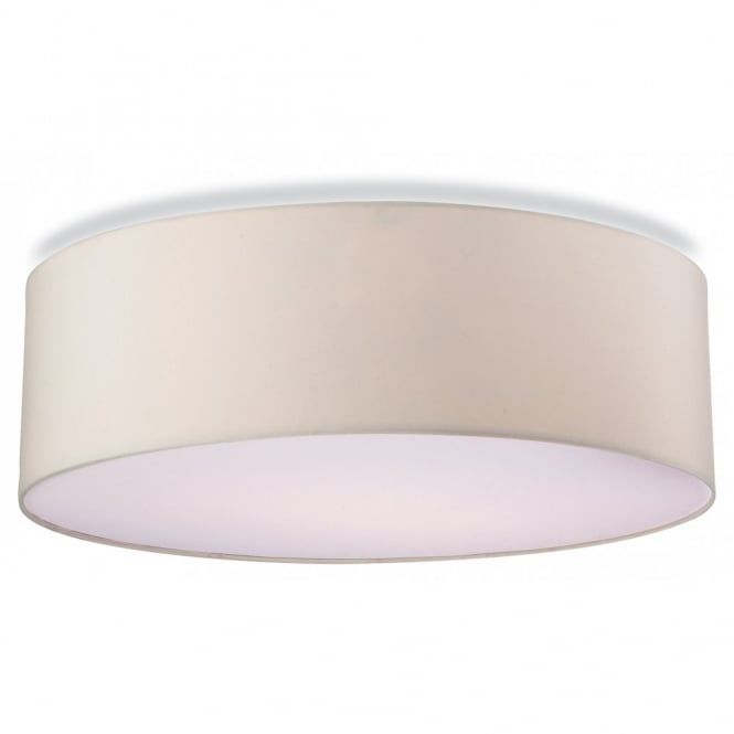 The Lighting Collection PHOENIX contemporary flush ceiling light in cream