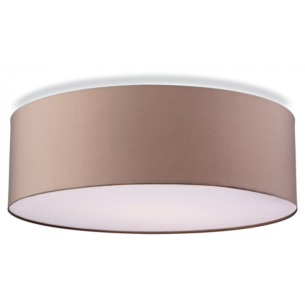 Contemporary flush ceiling light in taupe finish for Contemporary bathroom ceiling lights