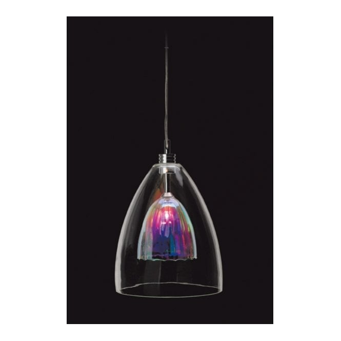Modern ceiling pendant dichroic glass to give multi Modern pendant lighting