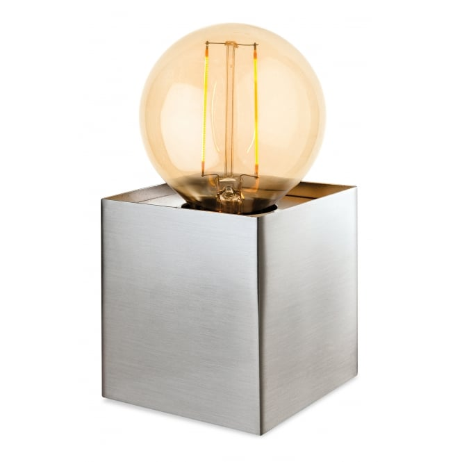 RICHMOND box light table lamp in a brushed steel finish