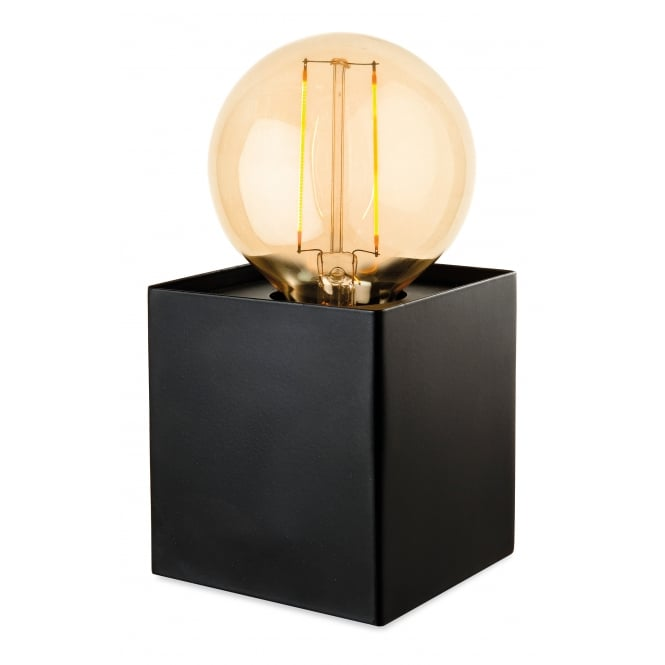 The Lighting Collection RICHMOND box light table lamp in black finish