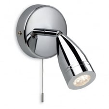 STORM LED polished chrome single wall spot light