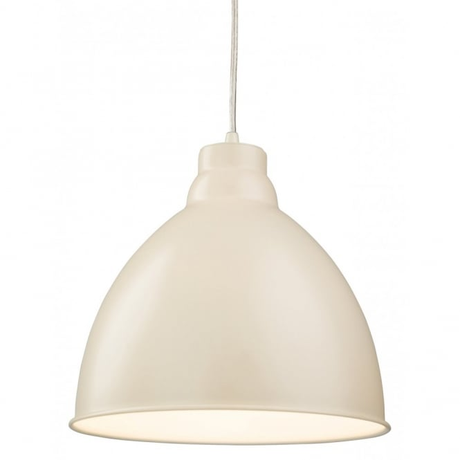 The Lighting Collection UNION retro ceiling pendant in cream finish