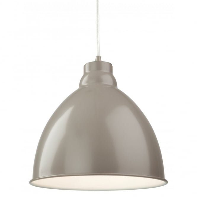 The Lighting Collection UNION retro ceiling pendant in mushroom finish