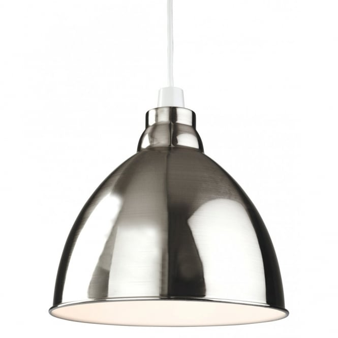 The Lighting Collection UNION retro ceiling pendant shade in brushed chrome finish