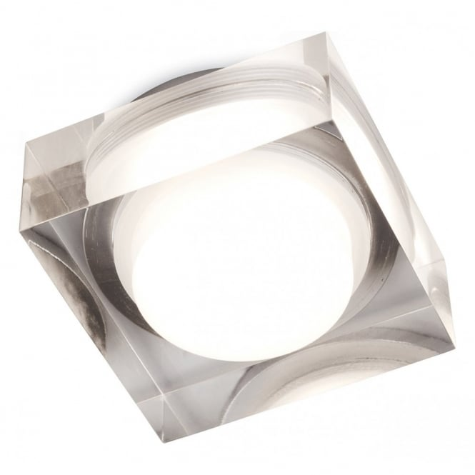 The Lighting Collection VIEW LED clear acrylic bathroom down light (squared)