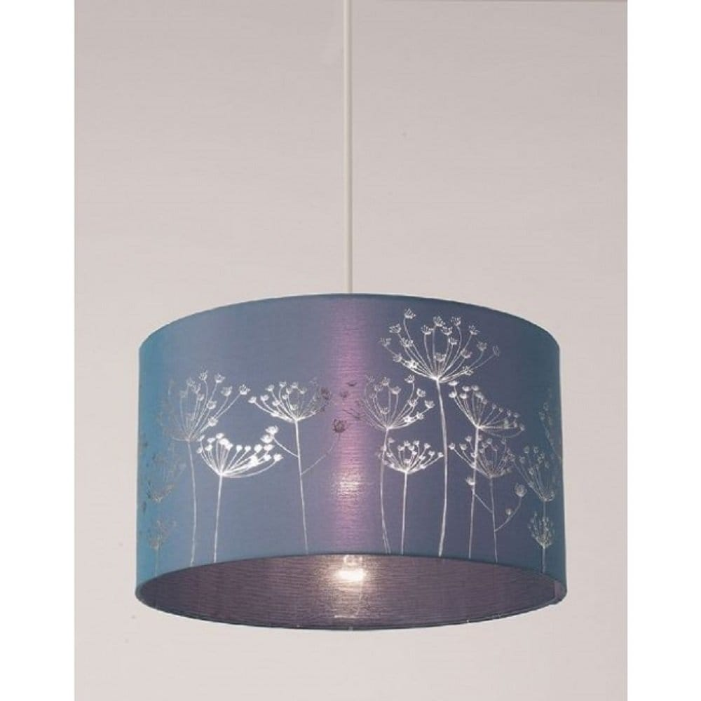 Easy Ceiling Lamp Shade: Alium Easy Fit Non Electric Faux Silk Ceiling Shade In Teal