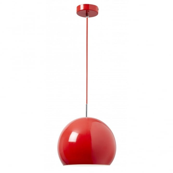 The Lighting Directory ALZIRA ceiling pendant (red)