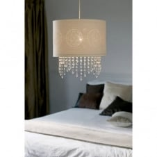 AMY easy fit ivory white ceiling pendant light