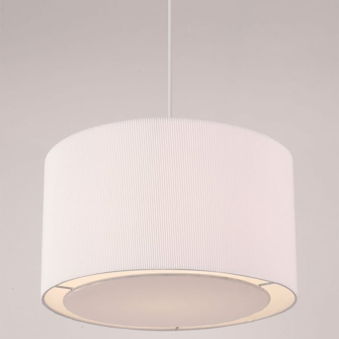 The Lighting Directory COLETTE easy fit non electric white ceiling pendant light