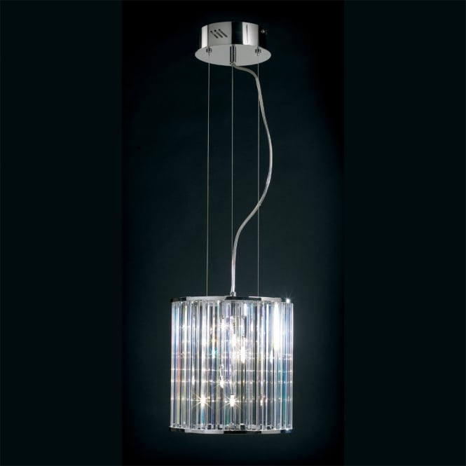 Crystal modern contemporary ceiling pendant light fitting.