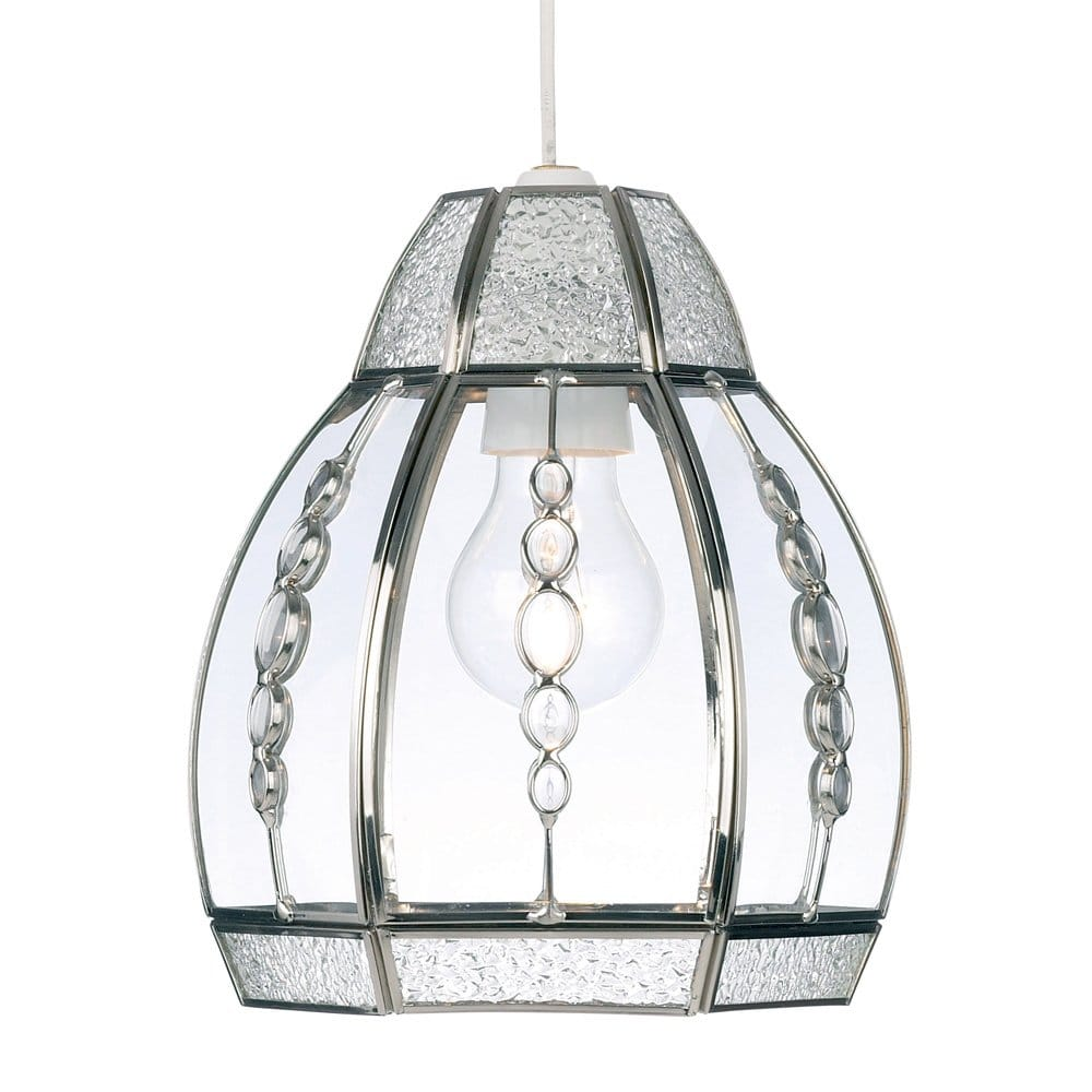 Ceiling Lights Glass Shades : Easy fit beaded glass ceiling light shade