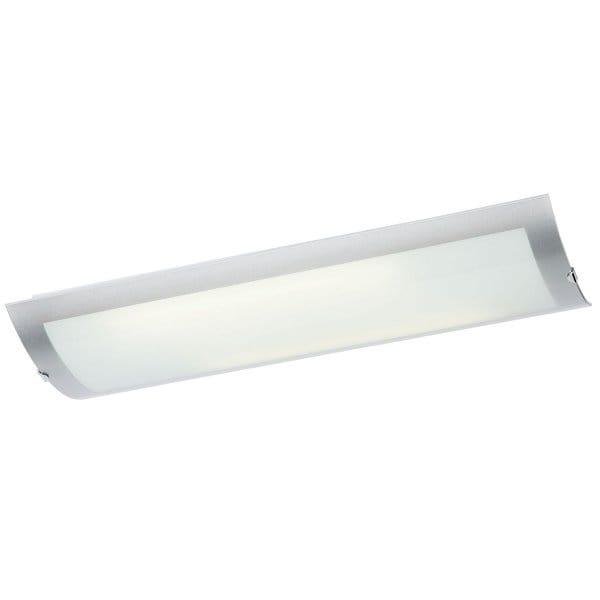Modern Chrome Flush Kitchen Ceiling Light, Low Energy Lighting