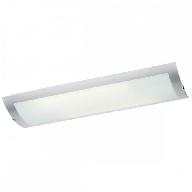 Modern Chrome Flush Kitchen Ceiling Light Low Energy Lighting - Energy efficient kitchen ceiling lighting