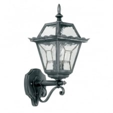 GARDEN wall lantern antique black & silver