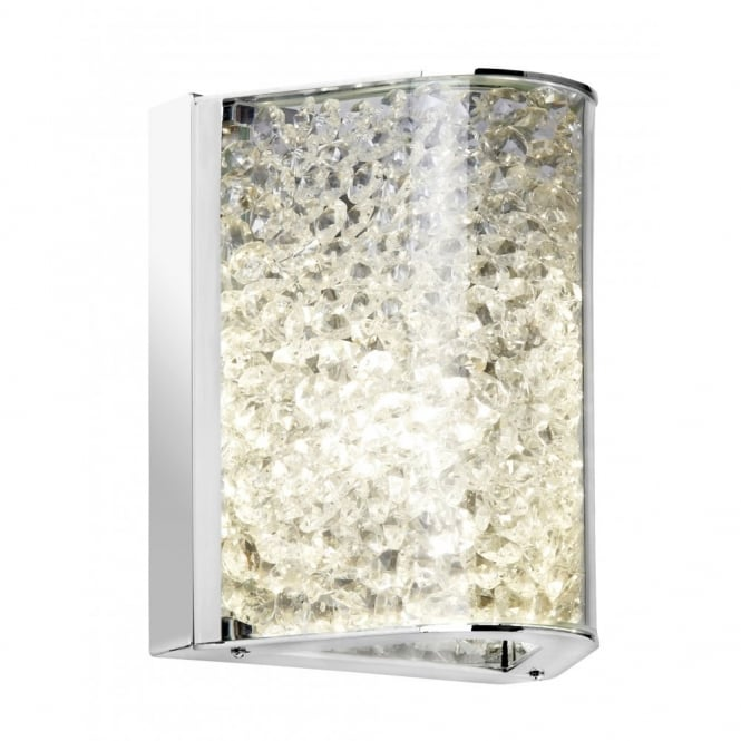 The Lighting Directory HYATT decorative chrome and glass bead wall light