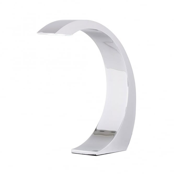LED Touch Lamp Desk Light in Chrome Finish, Attractive Curved Shape