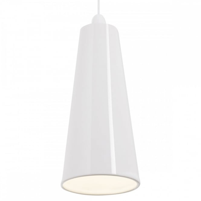 PRESTON easy fit slimline white ceramic ceiling pendant