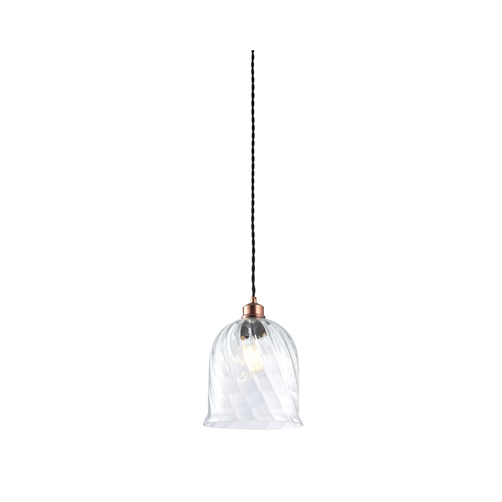 easy lighting. Twisted Clear Glass Easy Fit Pendant Shade Lighting