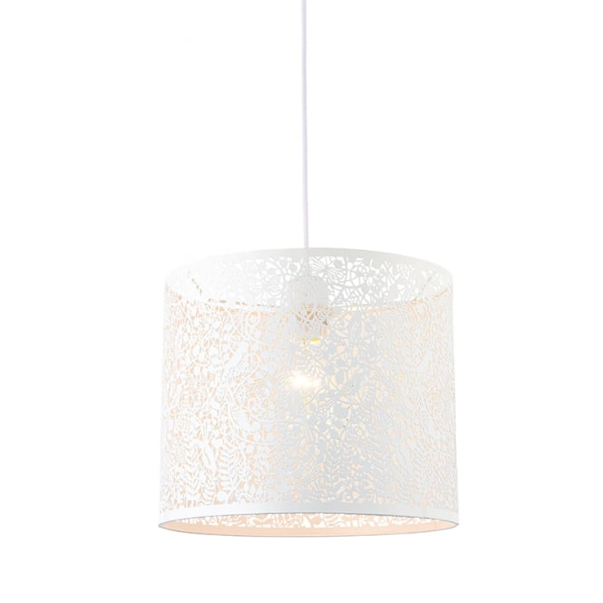 The Lighting Directory SECRET GARDEN non electric matte ivory cut out patterned shade