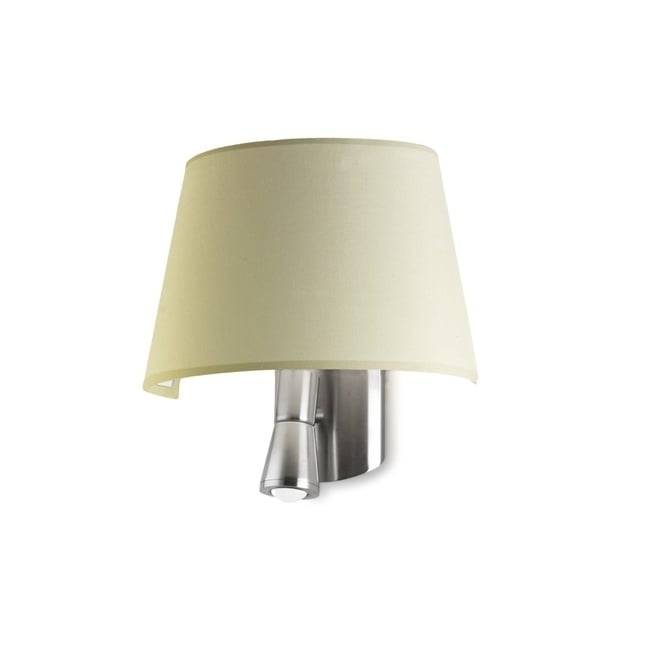 The One BALMORAL modern bedside wall light (beige shade)