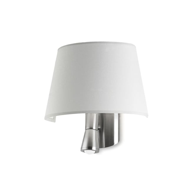 The One BALMORAL modern bedside wall light (white shade)