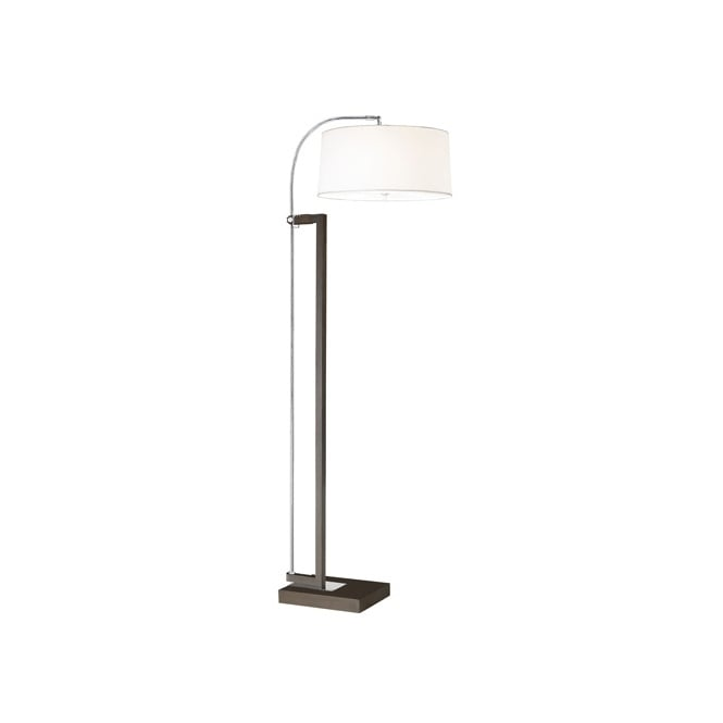 EXTEND contemporary brown & chrome floor lamp