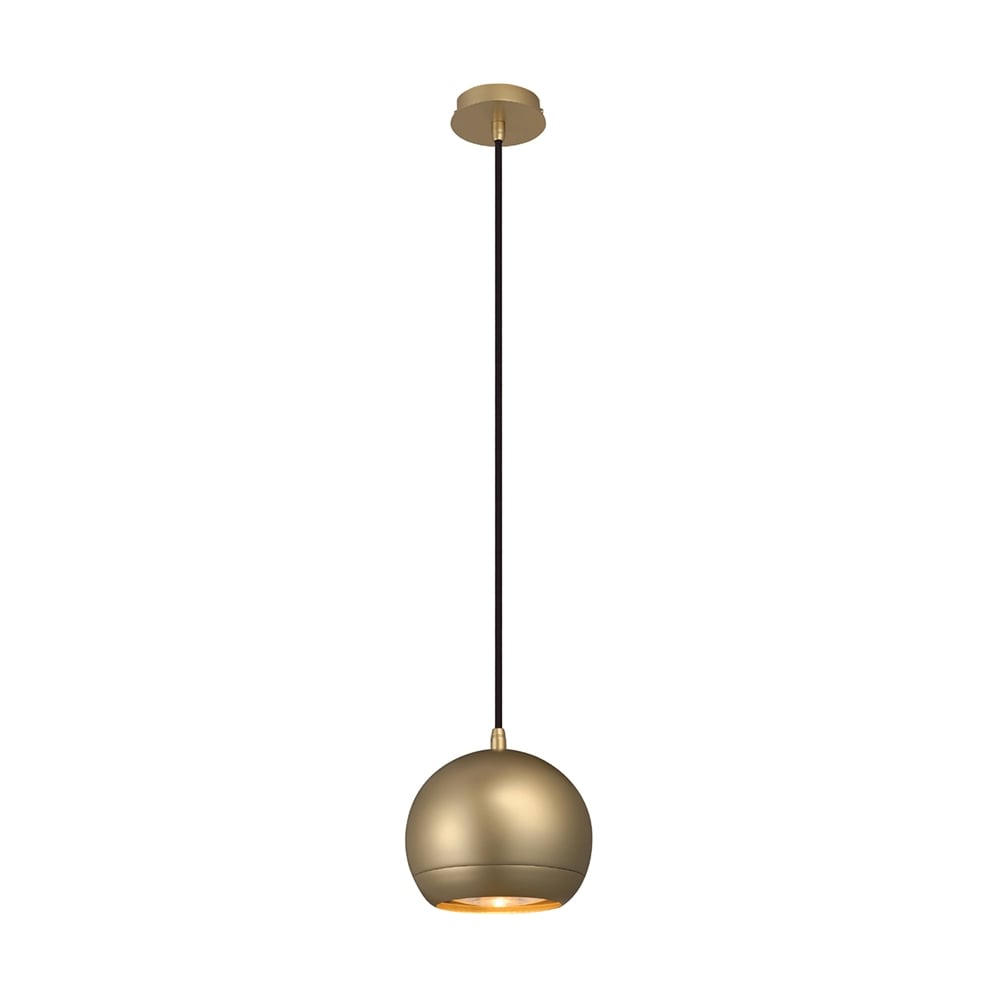 Pendant lights pendant lighting for ceilings the lighting company small sleek brass globe ceiling pendant aloadofball Image collections