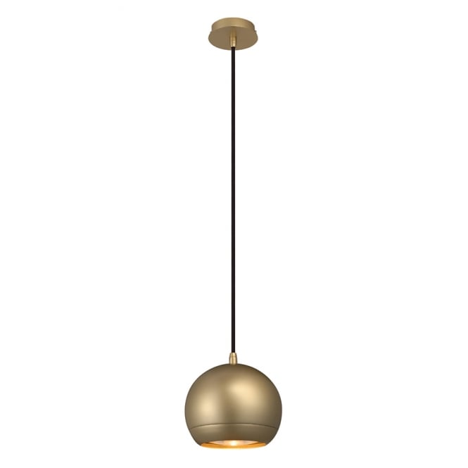 The One LIGHT EYE small contemproary brass ceiling pendant light