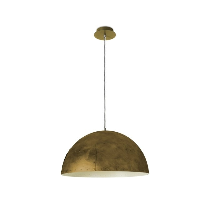 The One NEO industrial style metallic ceiling pendant in bronze (large)