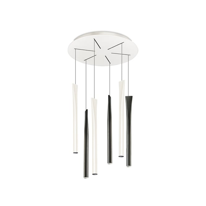 The One ROCKET LED ceiling pendant cluster (cream and black)