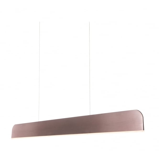 SEK LED ceiling pendant bar in red anodized finish