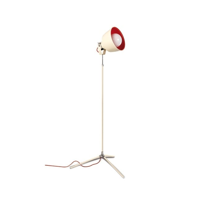 The One VINTAGE contemporary floor lamp (old white/red)