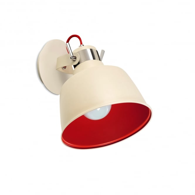 VINTAGE dual mount light in off white and red finish