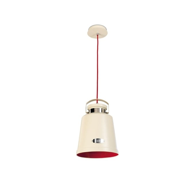 The One VINTAGE rustic style ceiling pendant (cream & red)
