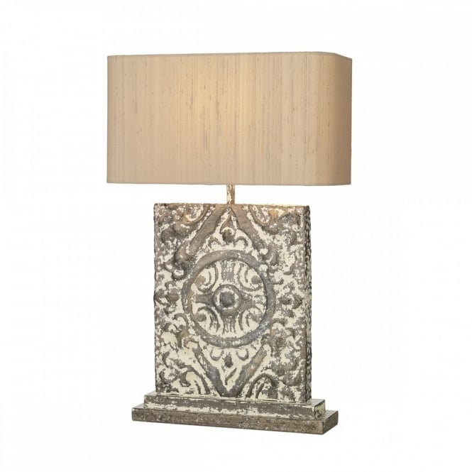 Tile effect table lamp rustic shabby chic perfect for country homes table lamp distressed shabby chic style aloadofball Gallery