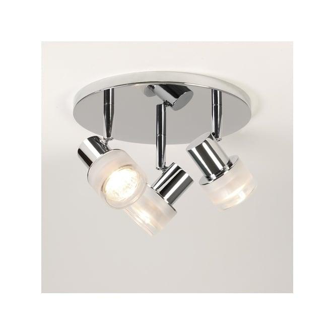 modern 3lt chrome bathroom ceiling spotlight cluster class 2 dimmable