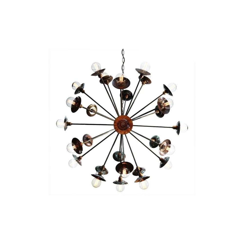 classic mid sputnik chandelier detail century star polished product brass lamp modern new atomic pendant